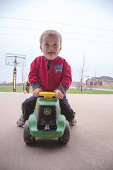 365 Project - April 12 (lupe1515) Tags: 365 project henry outside tractor ride toy fun driveway spring