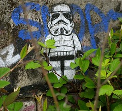 """If you only knew the power of the dark side... "" (ettigirbs2012) Tags: stormtrooper mur wall abandonné abandoned urbex"