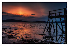 Silhouette (Deek Wilson) Tags: silhouette holywood countydown sunset jetty kinnegar belfastlough northernireland canon7dmkii lightroom sigma1020