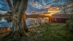 Pitfour (avaird44) Tags: pitfour lake landscape water trees boathouse flowers aberdeenshire scotland sunset 6d canon sky clouds calm light composition evening