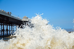 ABOUT TO GET WET (Duncan Disorderly2011) Tags: cromer norfolk pier sea water wave sky nikon d7000
