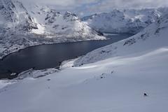 Kleiner Mensch in großer Landschaft (Globo Alpin) Tags: lofoten norwegen skitouren winter 2017 skiflugreisen ausland