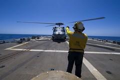 170417-N-BY095-0028 (U.S. Pacific Fleet) Tags: ussshoup ddg86 comptuex nimitzcarrierstrikegroup flightoperations sailors navy ddg underway pacificocean
