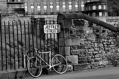 Jeffrey Street (Fearghàl Nessbank) Tags: nikon d700 scotland edinburgh jeffreystreet bike bw blackwhite mono monochrome