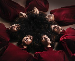 Rising Star (part 2) (Rob Woodcox) Tags: surreal magical magic majestic brown black beauty beautiful woman conceptual robwoodcox robwoodcoxphotography velvet fashion portrait strange afro afrocentric star moon power youth