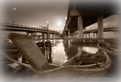 (Micartttt) Tags: bridge boat fisherman georgetown malaysia penang penangbridge micarttttworldphotographyawards micartttt capturethefinest