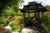 Pagoda in April sunshine (Four Seasons Garden) Tags: four seasons garden spring england uk walsall foliage wooden pagoda bridge fourseasonsgarden gazebo oriental