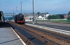 29.013  Mariembourg  24.09.78 (w. + h. brutzer) Tags: analog train nikon eisenbahn railway zug trains steam locomotive belgien dampflokomotive lokomotive eisenbahnen sncb 29013 mariembourg webru