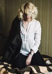 DSC_7704 (Kally Ua) Tags: light color girl contrast hair bathroom model eyes nikon soft body young 50mm14 soul blonde expressive posture d7000