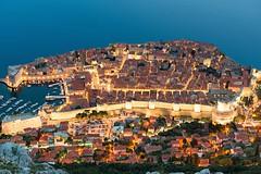 Dubrovnik, Jewel of the Adriatic (Kyle Pozan) Tags: city blue sea wall coast ancient nikon dusk croatia unesco dubrovnik dalmatian adriatic d800 dalmatia