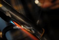 650b hardtail, columbus zona. (cyclingbyferretti) Tags: bike bicycle handmade steel mtb bici custom bdc hardtail 275 bicicletta bespoke framebuilding handbuilt framebuilder revanche 650b steelisreal simoncini revanchebikeco