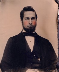 Oscar S. Willey, Husband of Abbie Diantha Gold, 1/9th-Plate Ambrotype, Circa 1862 (lisby1) Tags: vermont unitedstates genealogy ambrotype earlyphotography americanhistory oscarswilley abbiedianthagold