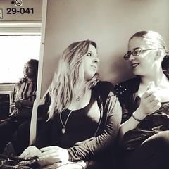 Les deux amies aimaient prendre ce bus aussi souvent que possible. C'est l qu'elles s'taient rencontrs il y a bien longtemps. #mtl #montreal #quebec #bus #stm #women #complicites #public #people #instagramers #igerscanada #igersmontreal #snapseed #ri36 (Vannara) Tags: square squareformat rise iphoneography instagramapp uploaded:by=instagram
