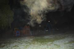 Fog (Jennifer Lea) Tags: grass playground fog night lights frost darkness melbourne greeb thomastown