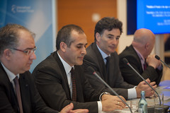 Alper Ozel, Fatih Sener and Umberto de Pretto at the media event