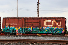 (o texano) Tags: bench graffiti texas houston trains devo pyro freights sneek cyk benching