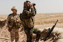 At the front line (Sebackhaus) Tags: june last with sebastian iraq can binoculars be seen isis base 20th backhaus the 2014 peshmerga jalula