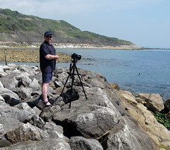 The Enthusiast (Simon Downham) Tags: camera sea simon water rocks long exposure photographer tripod le isleofwight alison downham dscf4443cr