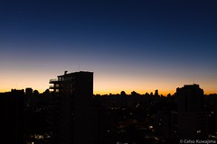 Amanhecer (Celso Kuwajima) Tags: blue brazil sky silhouette canon buildings eos dawn saopaulo sopaulo citylights fujiastia100f vsco 5dmarkiii sigma35mmf14dghsmart