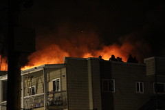 Vancouver 4th Alarm Apartment Fire (bcfiretrucks) Tags: rescue canada alarm water night vancouver fire chief flames broadway engine 4th police columbia canadian structure ambulance hose flame foam british ladder fraser firefighter department vfd vp pumper quint bcas vfrs