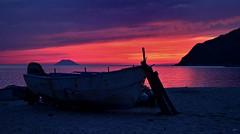[ Stanchezza - Weariness ] DSC_0340.2.jinkoll (jinkoll) Tags: pink sunset red sea sky reflection beach volcano coast boat sand isle calabria stromboli gloaming nicotera