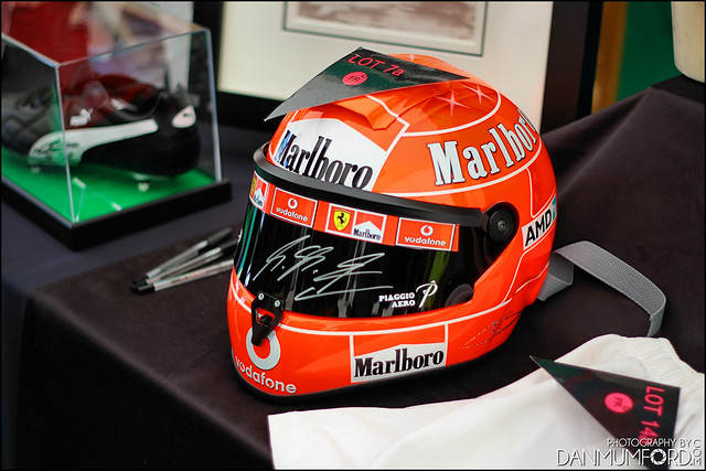 Michael Schumacher Signed Replica Ferrari Helmet