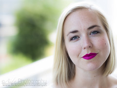 Red Lips 2 (AidaVardanyan) Tags: portrait woman beauty eyes blond redlips approved kaja