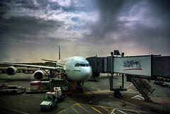 Flight time (Azarbhaijaan) Tags: pakistan plane airport emirates kuwait pakistaniphotographer pentaxk10d azharmunir drpanga