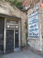 84-86 Seel Street, Liverpool 1. (philipgmayer) Tags: liverpool seelstreet garage closed demolished 1000