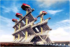 1404 megastructure 01 (Klaas5) Tags: architecture retro study architektur concept architectuur studie vormgeving theoretical megastructure designstudy ©picturebyklaasvermaas ontwerpstudie
