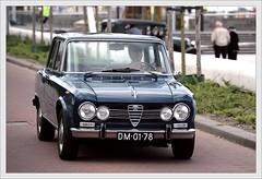 Alfa-Romeo Giulia 1600 Super / 1969 (Ruud Onos) Tags: 1969 super 1600 alfaromeo lelystad giulia nationale 2014 oldtimerdag ruudonos alfaromeogiulia1600super photographerruudonos dm0178 alfaromeogiulia1600super1969 nationaleoldtimerdaglelystad2014
