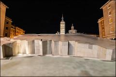 Plaza del Pilar (Juancdieguez | Photography - Madrid (ES) -) Tags: espaa arquitectura europa fuente zaragoza nocturna aragn fuentedelahispanidad detallearquitectnico plazanuestraseoradelpilar