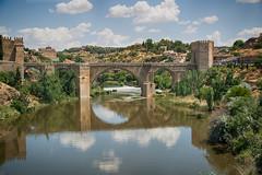 Puente de San Martín (St Martin's Bridge), Toledo, Spain (CamelKW) Tags: bridge spain medieval toledo puentedesanmartín stmartinsbridge spain2014