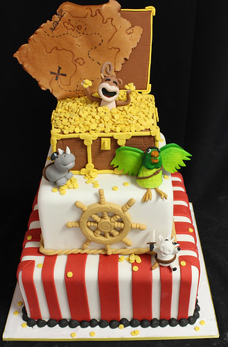 Pirate Animals Cake