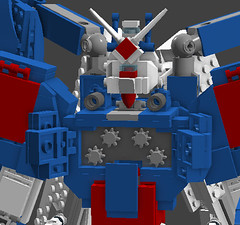 Liberty Gundam - Chest & Head Detail (TF Twitch) Tags: usa mobile digital america liberty freedom robot justice war day lego eagle designer space military united 4 bald 4th july suit scifi fi states independence gundam fourth sci mecha mech mechas ldd