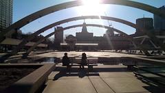 arches (Ian Muttoo) Tags: shadow toronto ontario canada cityhall gimp nathanphillipssquare 20140423174029edit
