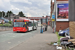A Bendy-bus in Aston (geoff7918) Tags: station aston scania bendybus 6024 flytippers omnicity lichfieldrd birminghamnxwm