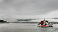 The Miyajima Ferry (Mustang Joe) Tags: ocean rain japan ferry island lumix shrine cloudy hiroshima panasonic miyajima dmc itsukushima 2014 hiroshimaprefecture lx7 hatsukaichi panasoniclumixdmclx7