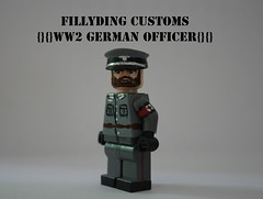 WW2 German Officer (Keaton FillyDing) Tags: brick paint lego nazi german figure ww2 ww1 custom officer minifigure brickarms