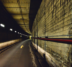 the way (The world is my canvas) Tags: city light underground nikon path wideangle tunnel arrow 24mm exit derelict ghetto reflecton undergroundtunnel wideanglelens beneaththecity nikonwideangle nikkor1424mmf28 nikond800e