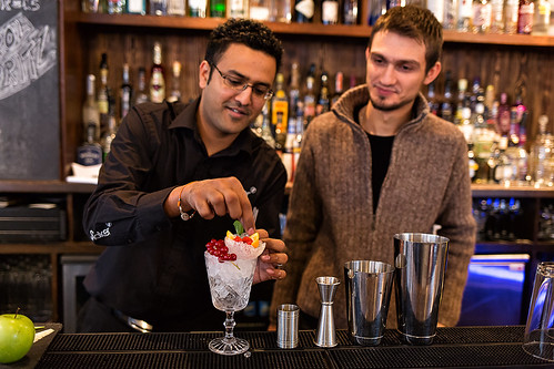 Training with professional bartenders