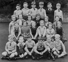Neat group photo (theirhistory) Tags: uk school girls boys shirt children scotland shoes dress tie bow junior gb jumper shorts schoolphoto wellies primary classphoto