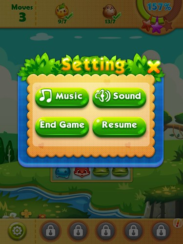 Forest Mania Settings: screenshots, UI