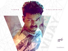 Ilayathalapathy Poly Portrait (BKV Arts) Tags: vijay ilayathalapathy ilayathalapathypolyportraitthupakkitheridigital artbkv arts digitalart bkvarts kollywood thupakki theri actor tamil cinema movies films polyportrait polygons