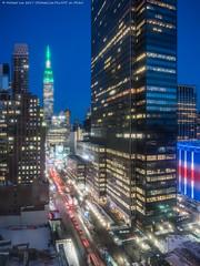 True Blue (20170317-DSC08516-Edit) (Michael.Lee.Pics.NYC) Tags: newyork aerial hotelview wyndhamnewyorker 34thstreet 1pennplaza esb empirestatebuilding architecture cityscape night twilight bluehour sony a7rm2 zeissloxia21mmf28