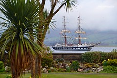 Stavros S Niarchos (Zak355) Tags: stavrossniarchos tallship ship boat vessel bute pirateship rothesay shipping riverclyde isleofbute scotland scottish masts sails palmtrees