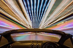 Warp speed Mr Sulu (waynedavey67) Tags: canon 6d 1635mmf4 tripod car automobile automotive night nightphotography lowlight lighttrails colours abstract lightart yarmouth norfolk convertable audi interesting interestingmonday different