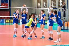 2017-04-08 EK U18 Ned - Slo (24a) (Peter Donderwinkel) Tags: ekmeisjesu18 nederland teamholland slovenië valkenhuizenarnhem papendal volleybal volleyball sportphotography teamsport indoor ek canon nevobo volleybalnl oranje