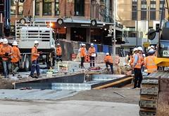 CBD & South East Light Rail - George Street - Update 14 Apil 2017 (4) (john cowper) Tags: cselr georgestreet grosvenorstreet bridgestreet bondstreet jamiesonstreet goodfriday tracklaying sydneylightrail alignment altrac alstom transportfornsw infrastructure sydney newsouthwales