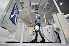 Toyota's new robot leg brace can help those with partial paralysis walk again (TBN TopBreaking.News) Tags: toyota's new robot leg brace can help those with partial paralysis walk again health technology horizontal tokyo japan
